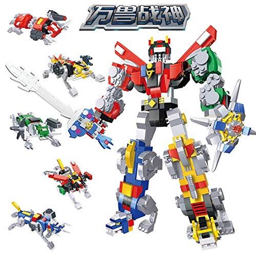Keu_20 Blocks - 1294/pcs Compatible legoed Ideas Voltron Force Scaled-Down Lions 5 in 1 Kids Toys Sets Model Building Blocks Bricks Robot 1 ()