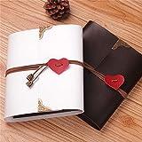XDOBO clásico–Álbum de fotos, álbum de fotos de álbumes de bricolaje, hecha a mano de bricolaje álbum de fotos de boda, aniversario Scrapbook, boda, Negro, 1