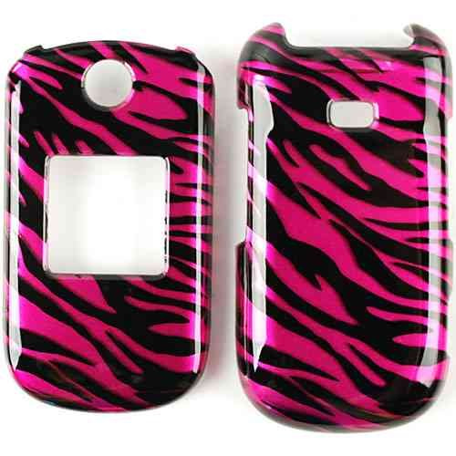 CELL PHONE CASE COVER FOR SAMSUNG CHRONO 2 R270 TRANS HOT PINK ZEBRA PRINT ()