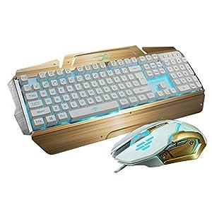 led gaming keyboards and mouse combo bluefinger 3 color adjustable usb wired metal. Black Bedroom Furniture Sets. Home Design Ideas