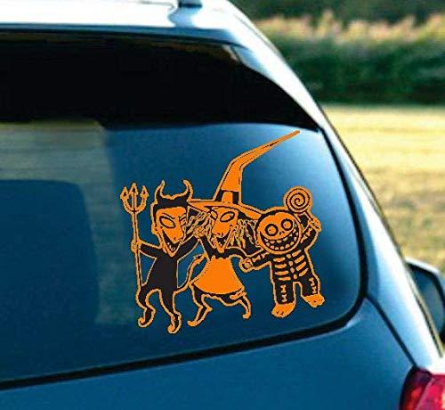 - LA DECAL Jack & Sally Nightmare Before Christmas Lock, Shock, Barrel Vinyl Decal for car SUV Truck Laptop (Orange)