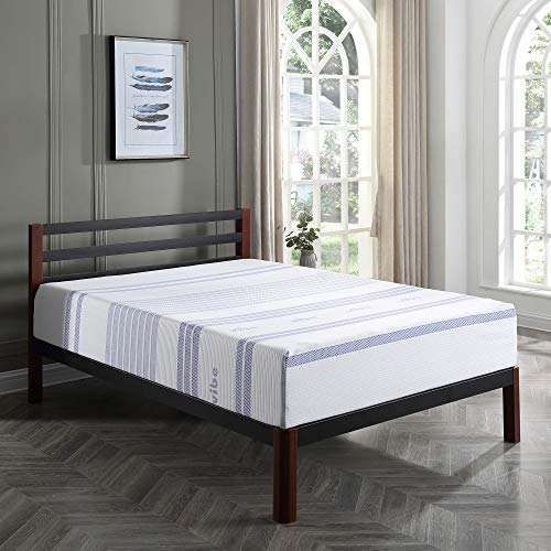 Classic Brands Vibe 12-Inch Gel Memory Foam Mattress | Bed in a Box, [Mattress Only], Twin XL