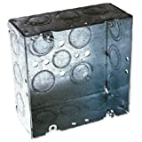 Hubbell Raco 8257 2-1/8-Inch Deep, 1/2-Inch and 3/4-Inch Side Knockouts Welded 4-11/16-Inch Square Box