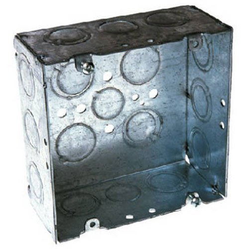 Hubbell-Raco 8257 2-1/8-Inch Deep, 1/2-Inch and 3/4-Inch Side Knockouts Welded 4-11/16-Inch Square -