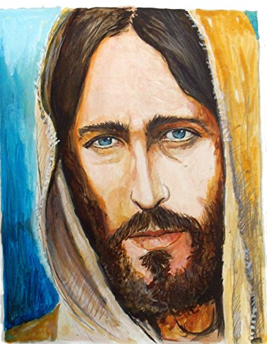 Jesus Of Nazareth -Original Signed Art Print- Painting of Jesus - Ready To Hang! Perfect Gift! Available in Various Sizes! Framed or Just Matted! (Matte (5