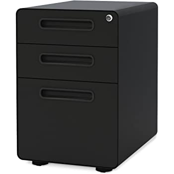 Amazon Com Devaise 3 Drawer Mobile File Cabinet With
