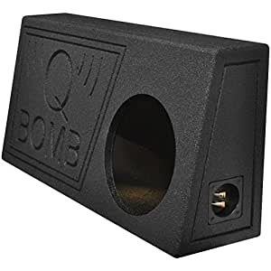 """Qpower QBTRUCK110V Qpower Single 10"""" Truck Ported SPL Empty Woofer Box with Bed Liner Spray"""