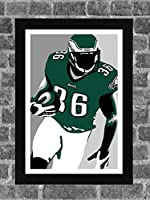 Philadelphia Eagles Brian Westbrook Portrait Sports Print Art 11x17