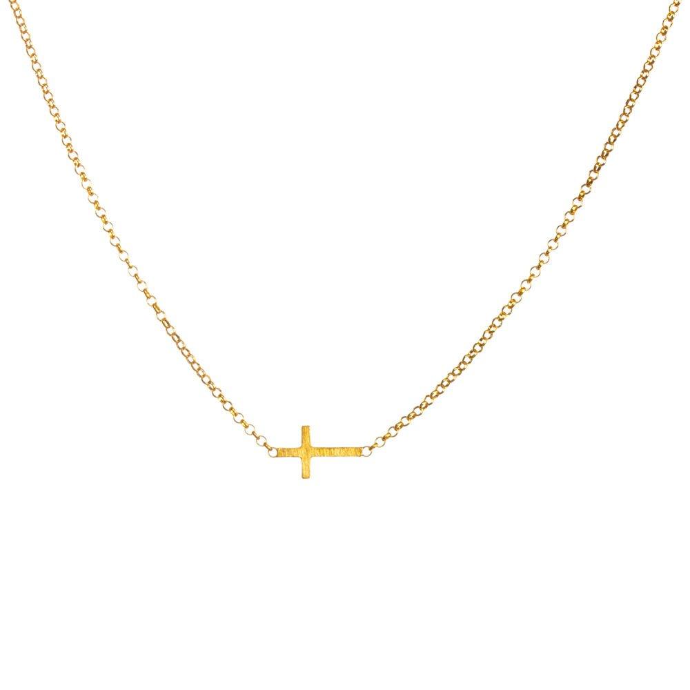 Dogeared Faith Small Sideways Cross Necklace 18 Dogeared jewels & Gifts Dogeared Jewels & Gifts TS2001