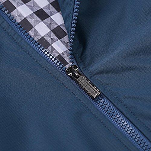 Surfacet Aquamarine Fondo Jacket Men Zipper A Top Leggero Antivento Casual Costine Gomy Liscio Cappotto 6wBIxpOIq