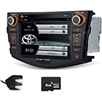 XTRONS 7 HD Digital Touch Screen GPS Navigation Car Stereo Radio DVD Player with Screen Mirroring Function for TOYOTA RAV4 2006-2012 Reversing Camera&Map Card Included