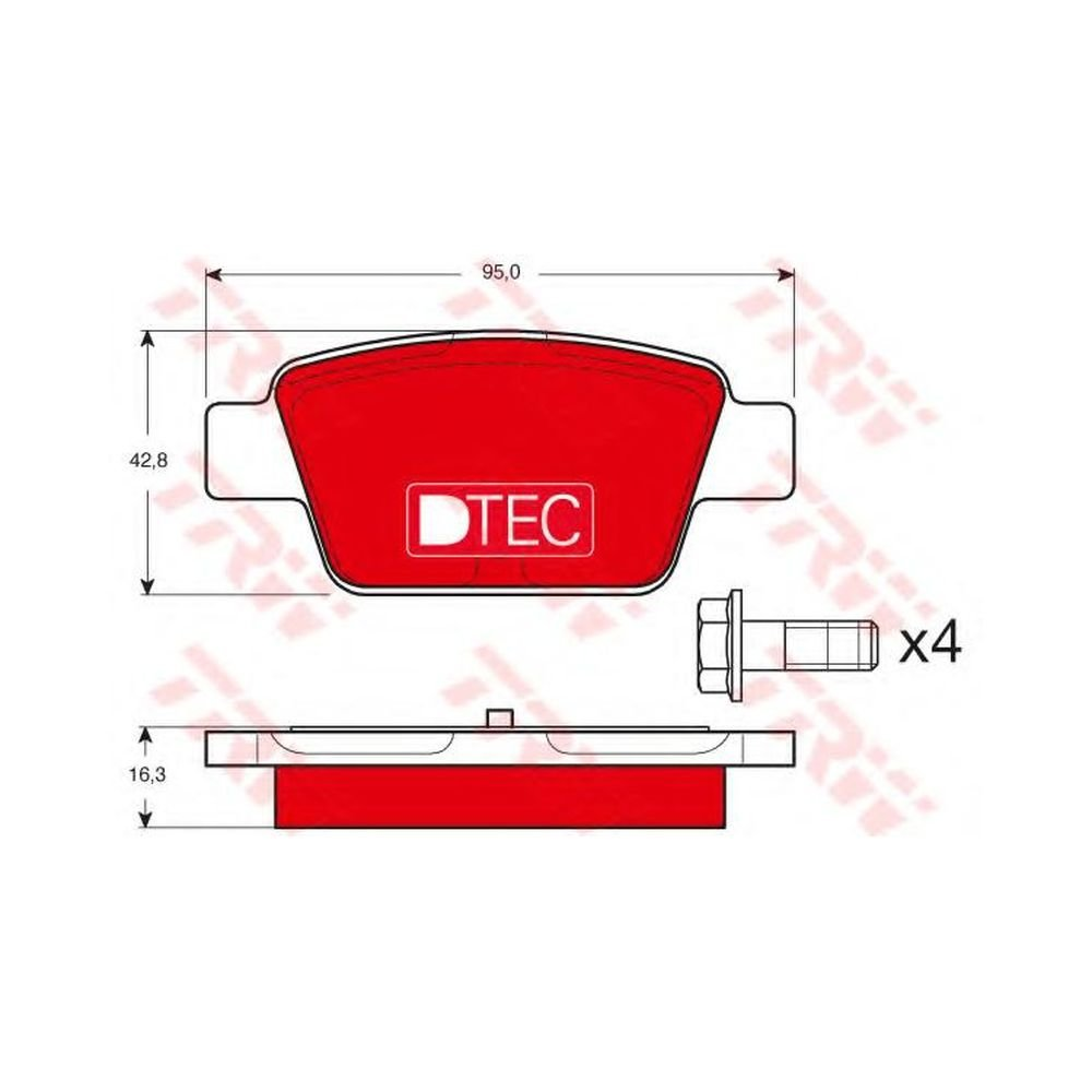 Trw GDB1485DTE Kit Pastiglie per Freno a Disco Trw KFZ Ausruestung GmbH