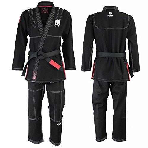 Ultra Light Version With Preshrunk Fabric  Spartacus  Bjj Jiu Jitsu Gi By Verus  Black  A2