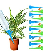 Rorchio 24pcs Plant Self Watering Devices Automatic Watering Spikes with Adjustable Slow Release Control Valve Switch Release Vacation Plants Watering System for Outdoor Indoor Plants Tree