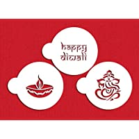 Happy Diwali Cookie Stencil Set by Designer Stencils