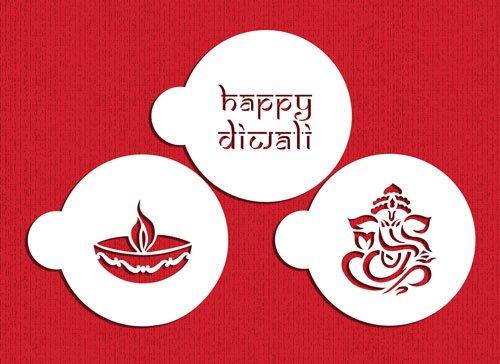 Happy Diwali Cookie Stencil Set by Designer Stencils