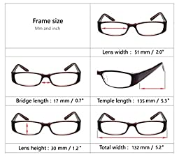 Eyecedar Reading Glasses Women 5-Pack Metal Spring Hinges Oval Frames With 5-Linen Cloth Pouch And Brown Sun Readers Glasses +1.50