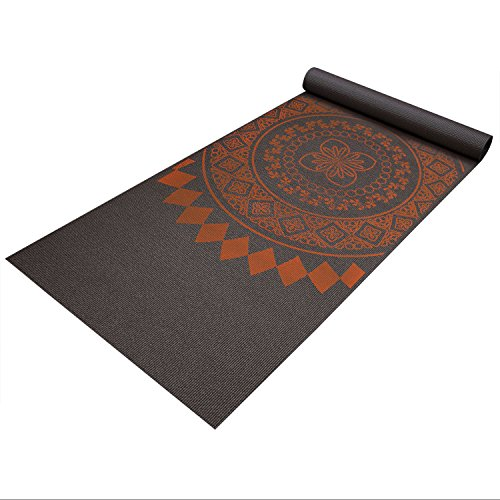 Fit Spirit Premium Printed Yoga Mat Red Henna 6mm