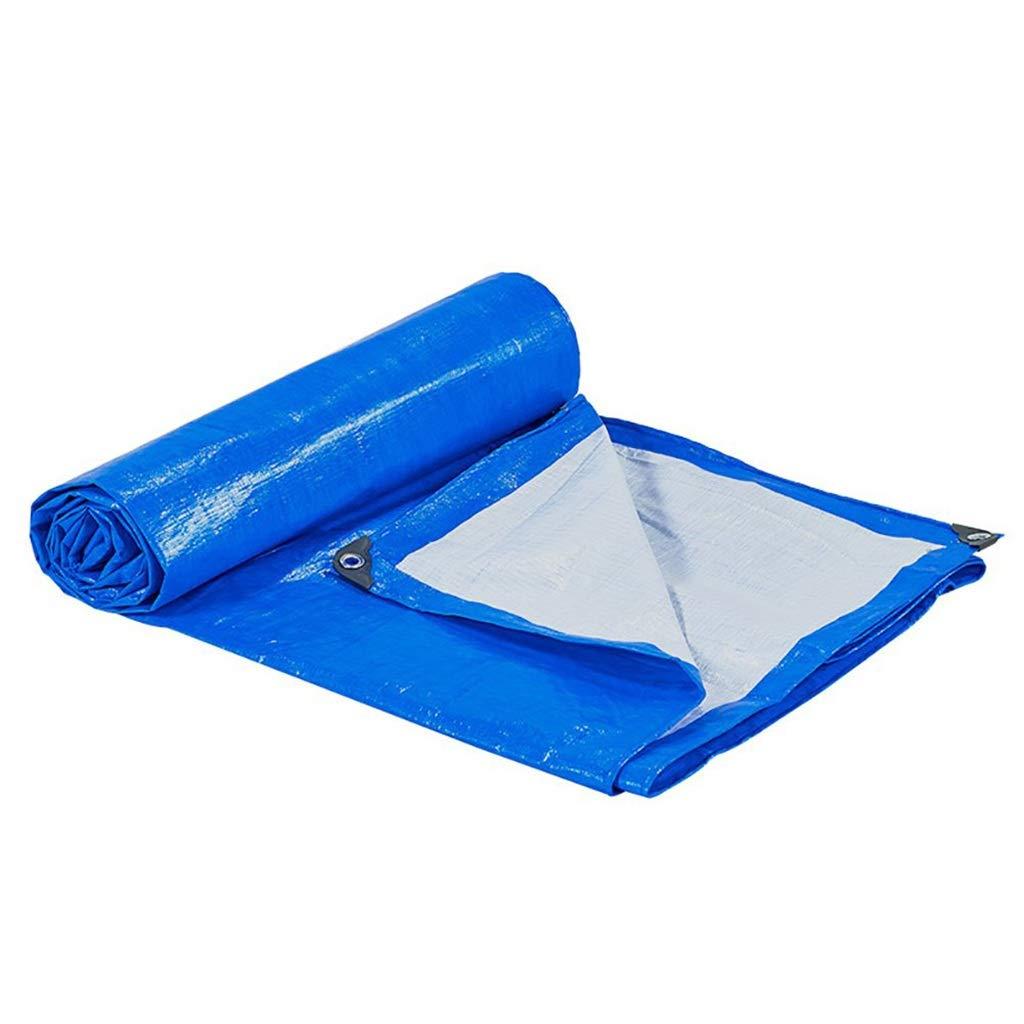 ターポリン アイレット付き防水シート防水防湿防水シートシェードプラスチックテントオーニングクロスグラウンドシートカバー、175グラム/スクエア、ブルー (サイズ さいず : 6mx10m) B07S41GN4Y  6mx10m