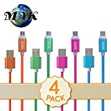 MAK POWER Micro USB Cable 4 pack 1M/3.2ft Samsung USB Cable,Data Cable Samsung Phone Charger Charging Cord Fast Charge for Android, Galaxy Tablet, HTC, Nokia, Sony Bluetooth Speakers Power bank