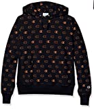Champion LIFE Men's Reverse Weave with Hood-Tossed, C Logo Spaced Navy, Large