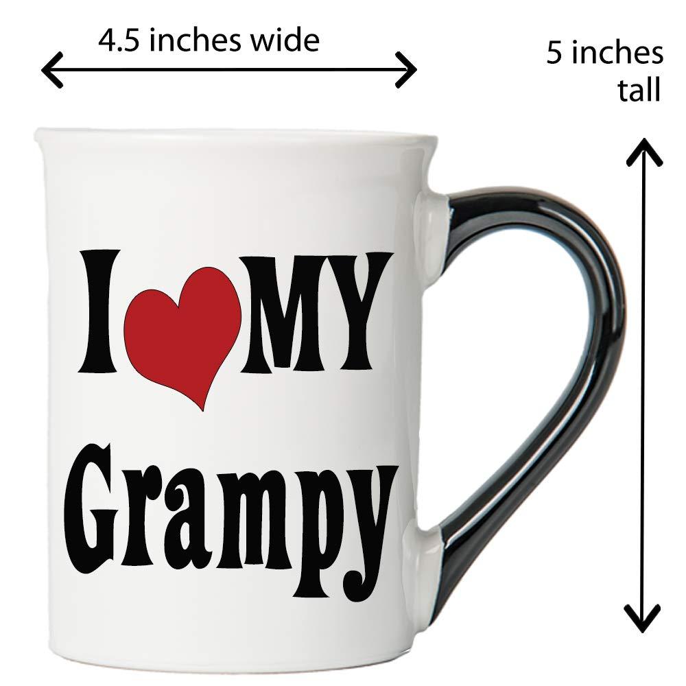 Cottage Creek Grampy Coffee Mug I Love My Grampy Large 18 Ounce Ceramic Grampy Mug//Grampy Gifts White