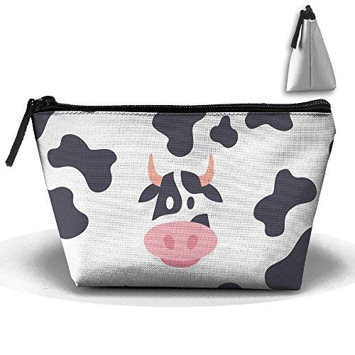 Trapezoidal Bag Makeup Bag Cow Milk Storage Portable Travel Wash Tote Zipper Wallet Handbag Carry Case