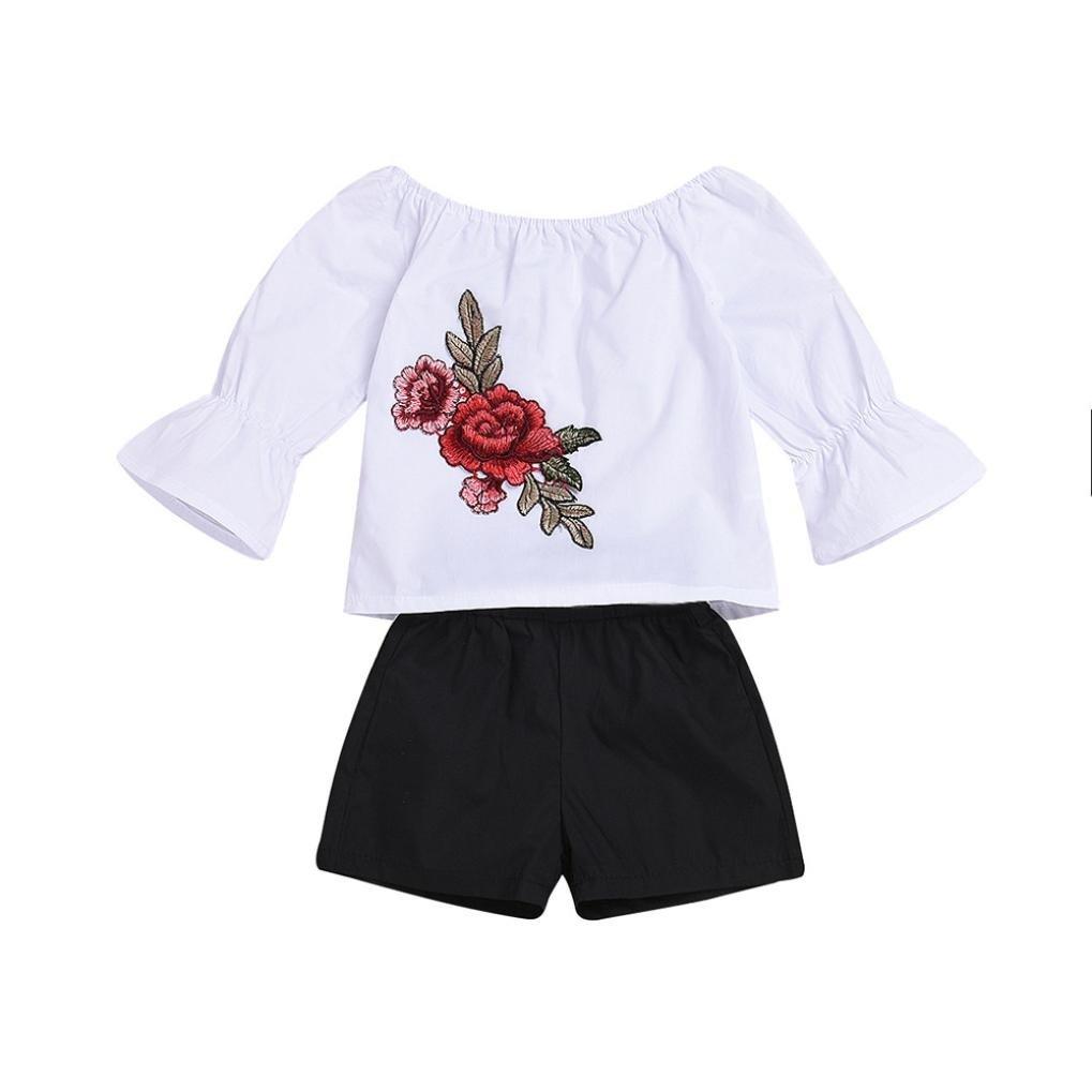 Kleidung Kinder M/ädchenkleidung Hosen Pumphose Kinderhemden Kinderblusen Kinderhosen M/ädchenmode Babyausstattung Bekleidungssets LUCKDE Shirts Tops+Shorts M/ädchen