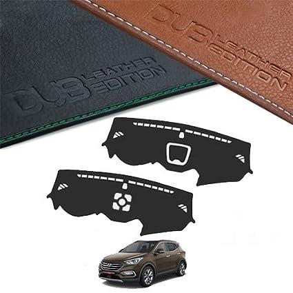 Custom Made Leather Edition Premium Dashboard Cover For Hyundai Santa Fe  2017 (Brown Leather) 38c63ca53e2