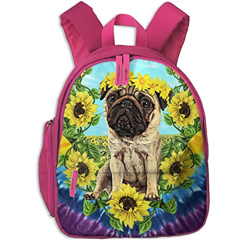 Sunflower Pug Daydream Funny Pugs Children's/Kids School/Nursery/Picnic/Carry/Travelling Bag Backpack Daypack Bookbags ()