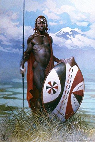 Masai Warrior by Frank Frazetta Art Print Poster 24x36 inch ()