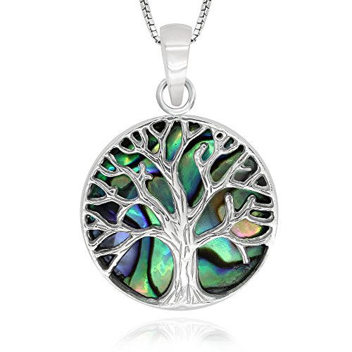 Sterling Turquoise Abalone Pendant Necklace product image