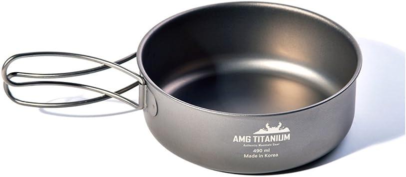 Amg cuenco de lija de titanio solo Camping utensilios de ...