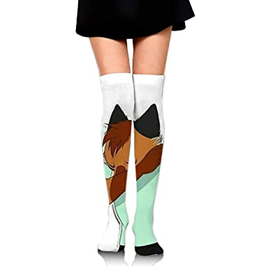 Amazon.com: Calcetines de tubo para mujer Fox Dabbing Over ...