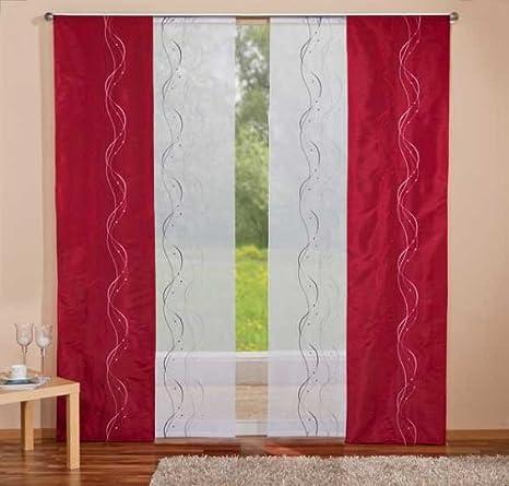 mit Tunneldurchzug Gardine 160 x 60 cm Panel kurz Vorhang HAFT/® Fl/ächenvorhang kurz Schiebevorhang kurz