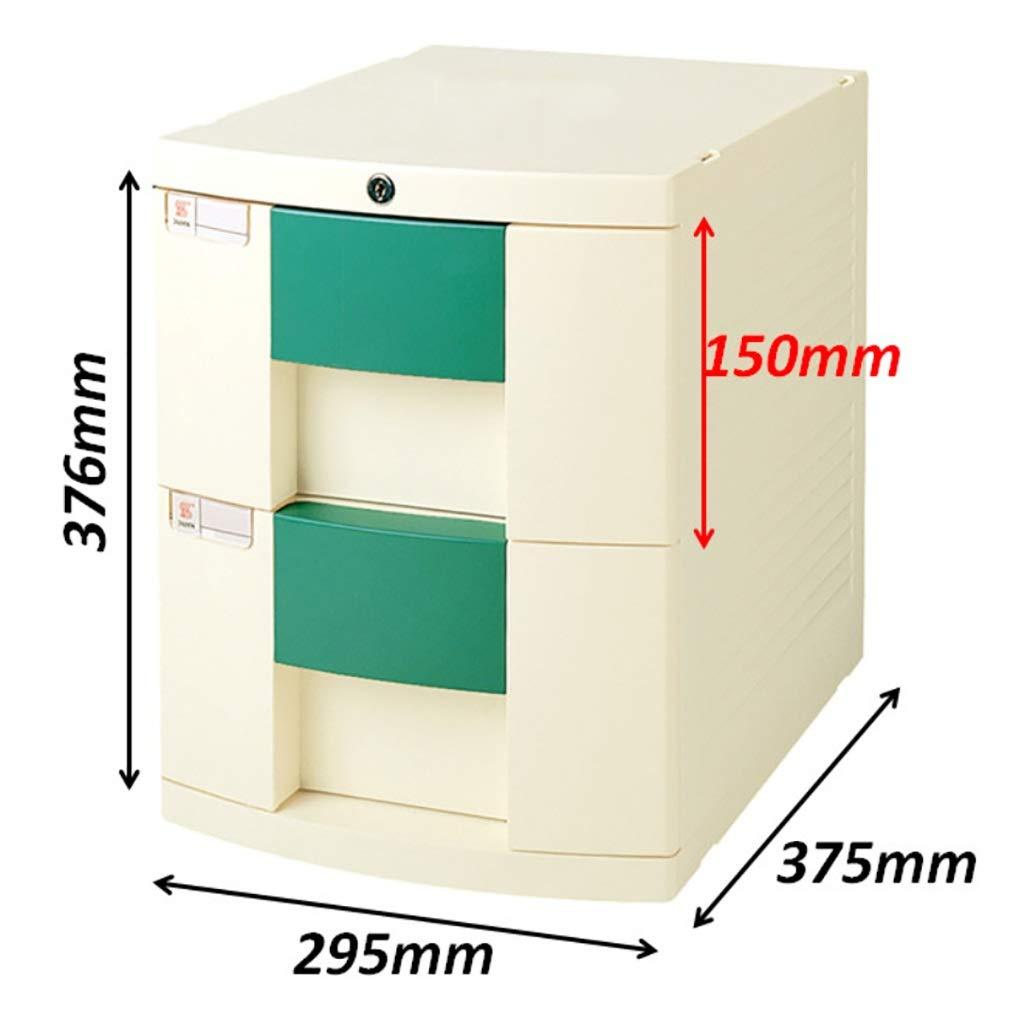 Con cerradura Alta capacidad Puede almacenar archivos A4 Archivadores de fichas Gabinetes for archivos Archivadores caja de almacenamiento de escritorio Muebles de oficina Archivador 3 cajones
