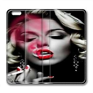 iphone 6 plus leather case,marilyn monroe smoking leather case for iphone 6 plus hjbrhga1544