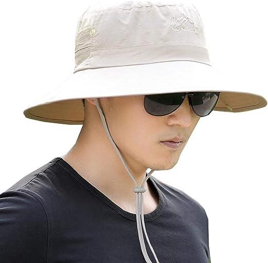 YJLGRYF Viseras Sombrero para el Sol Gorra para el Sol Hombres ...