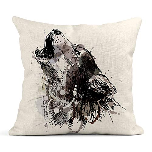 Emvency Decor Flax Throw Pillow Covers Case Watercolor