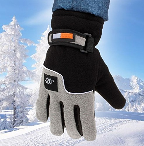 Halyard Cover (1-Pc (1-Pair) Best Popular Hot Mens Thermal Warm Glove Motorcycle Hand Cover Snow Decoration Motorbike Outdoor Sports Color Black)