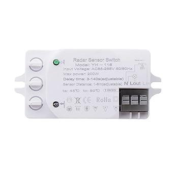 ShopSquare64 200W Detector de luz de radar ajustable para ...