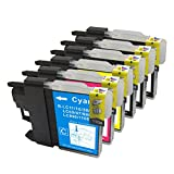 Ink & Toner Geek ® - Compatible Replacement Inkjet Cartridges for LC-61 LC61 XL (LC-61BK, LC-61C, LC-61M, LC-61Y) Black Cyan Magenta Yellow For Use With Brother DCP-165C DCP-375CW DCP-385CW DCP-395CN DCP-585CW DCP-J125 MFC-250C MFC-255CW MFC-290C MFC-295CN MFC-490CW MFC-495CW MFC-5490CN MFC-5890CN MFC-5895CW MFC-6490CW MFC-6890CDW MFC-790CW MFC-795CW MFC-990CW MFC-J220 MFC-J265w MFC-J270W MFC-J410W MFC-J415W MFC-J615W MFC-J630W (3 Black, 1 Cyan, 1 Magenta, 1 Yellow) by Ink & Toner Geek