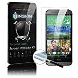 Inskin Ultra Slim 0.3mm HD Tempered Glass Screen Protector kit for HTC® M8 / HTC® One M8 (2014 model). Polished edges. Oleophobic coating. 9H Hardness. Inskin Retail Packaging.
