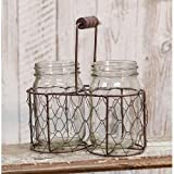 Heart of America Mason Jars In Chicken Wire Basket