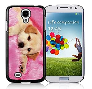 Nice S4 Black Case Cute Dog Pets Design Silicone Samsung Galaxy S4 Back Covers