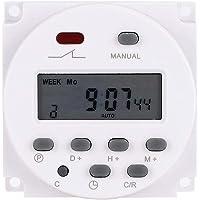 【Julklapp】16A 250 V 12 V 16 A veckodaglig timeromkopplare, timerstyrning, automatisk på- och avstängning av elapparaten…