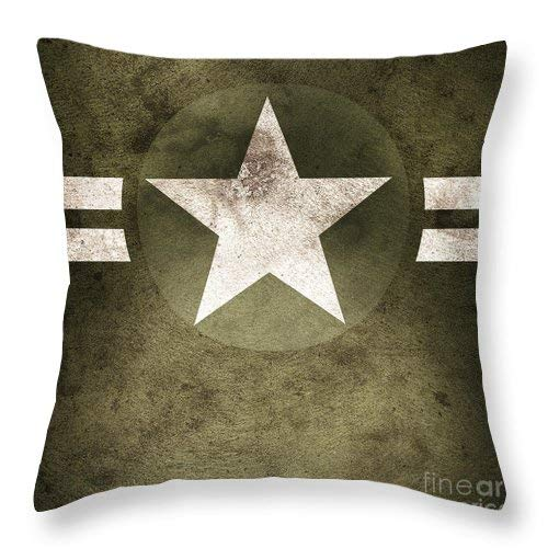Pillow Army Throw - Military Army Star Background Custom Throw Pillow Case Cover Personalized Cushion Cover Pillowcase Square Pillow Cover 18x18 Inches Cotton