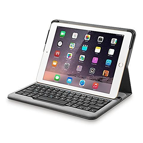 Anker Bluetooth Folio Keyboard Case for iPad Air 2 - Smart Case with Auto Sleep / Wake, Comfortable Keys and 6-Month Battery Life Between Charges (Not compatible with iPad 9.7 inch/iPad (Ipad 2 Air Magnetic Cover)
