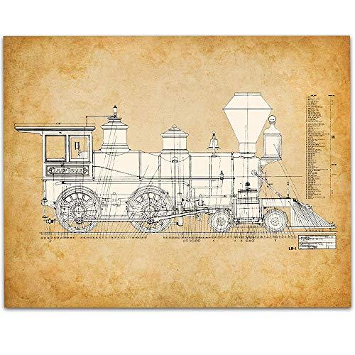 Walt Disney Lilly Belle Locomotive Train Engine - 11x14 Unframed Patent Print - Makes a Great Gift Under $15 for Disney Rail - Railcar Train Diesel