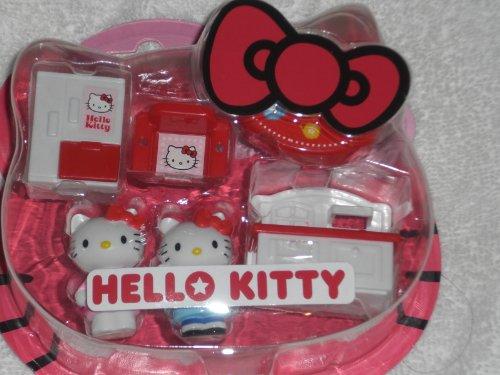 Japanese Sanrio Hello Kitty Mini Playset Kitchen with Fridge and Sink